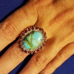 Jewelry - Genuine Kingman Turquoise and Gemstone Ring